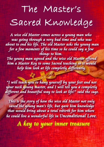 Back Cover Book - The Master's Sacred Knowledge by Allan Rufus