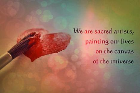We are sacred artists